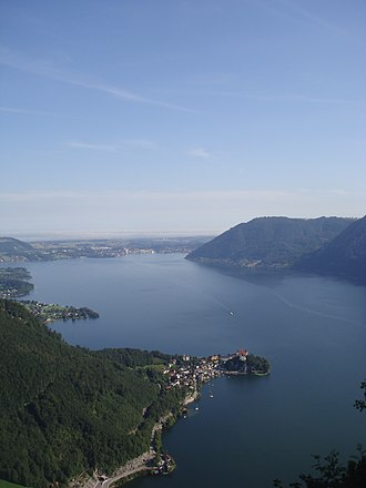 Traunsee - The northern half of the Traunsee