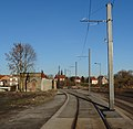 Travaux de la branche vers Vieux-Condé de la ligne B du tramway de Valenciennes en décembre 2013 (251).JPG