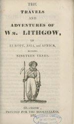 Travels and adventures of Wm. Lithgow (2)