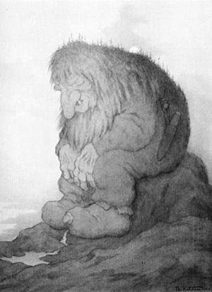 Trollhunter - Troll painting by Theodor Kittelsen