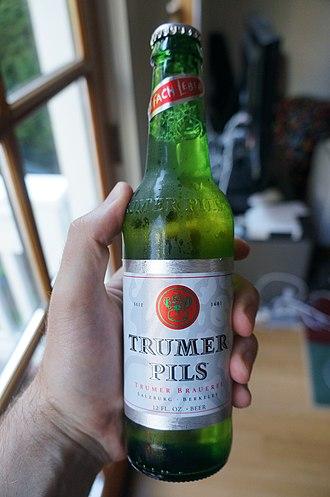 Trumer Pils - A bottle of Trumer Pils