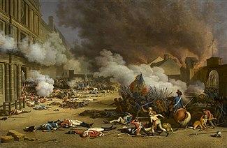 La Prise des Tuileries le 10 août 1792 par Jean Duplessis-Bertaux, Musée du château de Versailles
