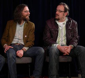 Steve Fisk - Fisk (right) with Steve Turner of Mudhoney, 2007