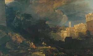 Fast of the Firstborn - J. M. W. Turner's depiction of the Plague of the Firstborn (The Tenth Plague of Egypt, 1802)