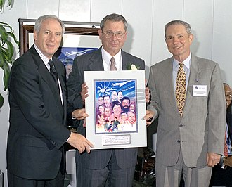 Spence M. Armstrong - Dan Goldin, John Adamczyk, and Spence Armstrong at NASA's Turning Goals Into Reality aviation conference