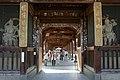 Two Niō who stand in the left (Ungyō) and right (Agyō) of the sanmon gate at Zentsū-ji in Zentsū-ji City Kagawa pref.jpg