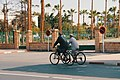 Two elderly men use a bicycle for mobility.jpg
