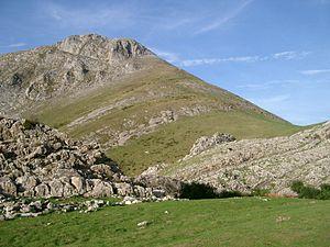Basque Mountains - Txindoki peak, in Aralar.