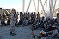 U. S. Marine Lt. Col. Chris Hrudka, deputy commander of Combat Logistics Regiment 2(CLR-2), 2nd Marine Logistics Group, speaks to his Marines from Engineer Company, CLR-2, after their crew serve weapon skills 120902-M-KS710-097.jpg
