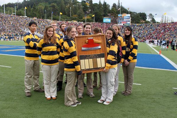 The University of California Rally Committee in possession of the axe during the 2010 Big Game UCRC Axe.jpg