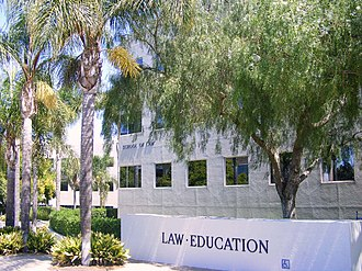 University of California, Irvine School of Education - The entrance to the UC Irvine Schools of Law and Education