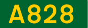 A828 road shield