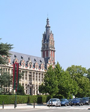 Université libre de Bruxelles - The main building on the Solbosch campus