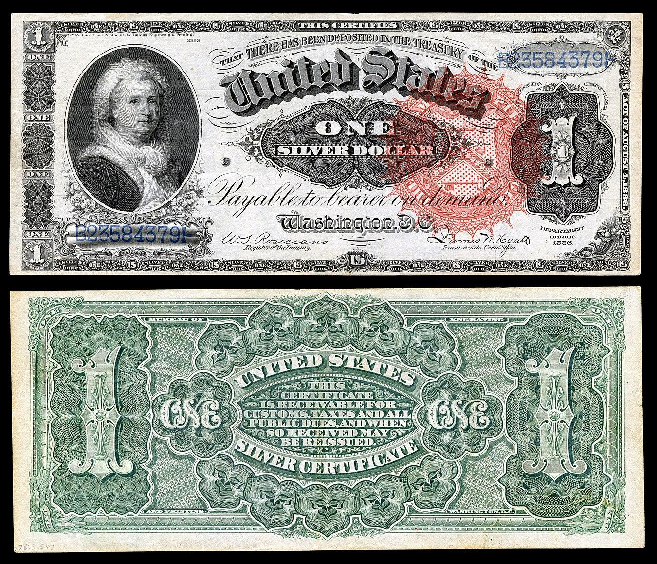 united states one dollar bill - HD1350×1159