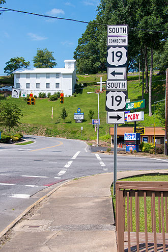 Special routes of U.S. Route 19 - US 19 Connector, in Bryson City, NC