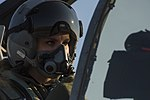 USAF Female A-10 Fighter Pilot Lt Kayla Bowers prepare to fly her aircraft in Bulgaria Operation Atlantic Resolve.jpg