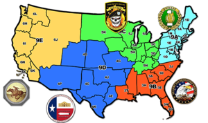 United States Army Recruiting Command - United States Army Recruiting Command's brigades and battalions map