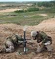 USMC Mortar support at Saber Strike 2012 (7384707582).jpg