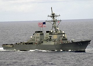 USS <i>Milius</i> US Navy destroyer