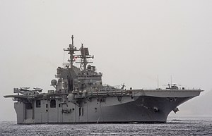 USS America (LHA-6) - Image: USS America (LHA 6) off Rio de Janeiro in August 2014