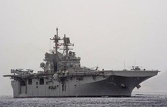 USS America (LHA-6) - Image: USS America (LHA 6) off Rio de Janeiro in August 2014