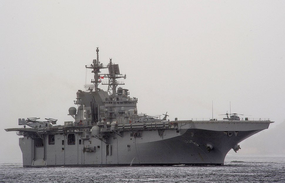 USS America (LHA-6) off Rio de Janeiro in August 2014