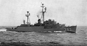 USS Haverfield (DER-393) underway c1960