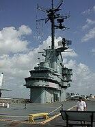 USS Lexington Another island view