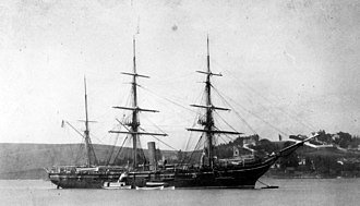 USS Mohican (1883) - Image: USS Mohican Mare island