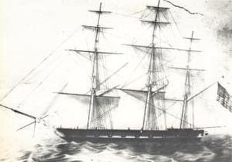 Ranald MacDonald - Captain James Glynn's sloop-of-war USS Preble, on which MacDonald returned from Japan.