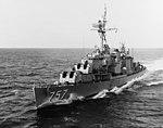USS Putnam (DD-757) underway in the Atlantic Ocean on 12 October 1964 (NH 107151).jpg