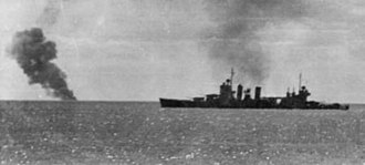 USS Quincy (CA-39) - Quincy fighting off air attacks at Guadalcanal.