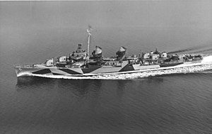 USS Stoddard (DD-566) - USS Stoddard (DD-566) underway in April 1944