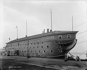 USS Vermont (1848) - Vermont at the Brooklyn Navy Yard in 1898.