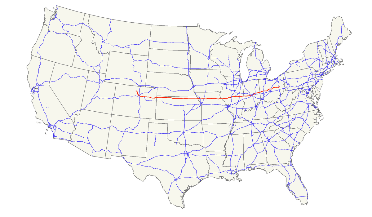 US Route Wikipedia - Us highway 36 map