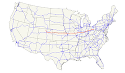 US Highway Wikipedia - Us highway 36 map