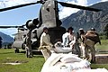 US Army CH-47 delivers relief supplies in Khyber Pakhtunkhwa 2010-08-11 1.jpg