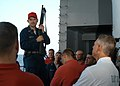 US Navy 050728-N-2541H-001 Master Chief Torpedoman's Mate Thomas Wheeler, talks about the safety hazards on a 12-gage shotgun.jpg