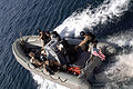 US Navy 060203-N-8298P-002 A Visit Board Search and Seizure (VBSS) team assigned to the guided-missile destroyer USS Gonzales (DDG 66) departs the ship on a Rigid Hull Inflatable Boat (RHIB) during a training exercise.jpg