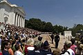 US Navy 060529-N-2383B-107 Thousands of on lookers watch the changing of the guard at the Tomb of the Unknowns during Memorial Day.jpg