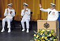 US Navy 070608-N-8395K-001 From left, Vice Admiral Rodney P. Rempt and Chief of Naval Operations Adm. Mike Mullen applaud U.S. Naval Academy Superintendent Vice Adm. Jeffrey L. Fowler at the U.S. Naval Academy change of command.jpg