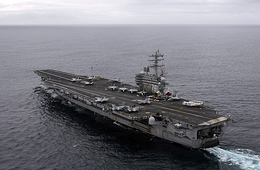 US Navy 081124-N-3659B-341 USS Ronald Reagan (CVN 76) transits the Pacific Ocean