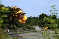 US Navy 090306-N-7130B-321 A fireball erupts from a blast site as a cache of live ordnance is detonated by Philippine Explosive Ordnance Disposal (EOD) personnel near Zamboanga City, Philippines.jpg