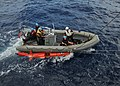 US Navy 110504-N-NL541-233 Rigid-hull inflatable boat operators assigned to the guided-missile frigate USS Thach (FFG 43) recover a BQM-74E aerial.jpg