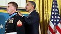 US Navy 110915-N-ZZ999-012 President Barack Obama awards the Medal of Honor to former Marine Corps Sgt. Dakota Meyer.jpg