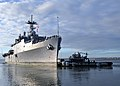 US Navy 111128-N-YC845-350 The amphibious transport dock ship USS Ponce (LPD 15) departs Naval Station Norfolk for a brief underway period.jpg
