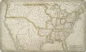 Jedidiah Morse - Map of the U. States, ca.1824. Geography by Morse; engraving by Annin & Smith