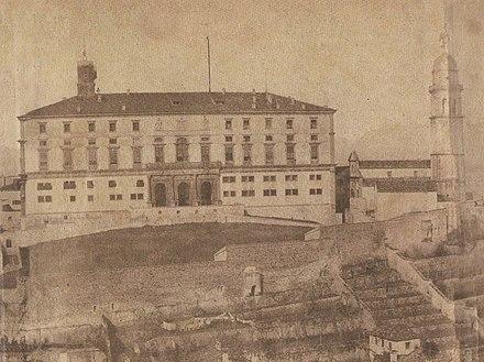 Veduta del castello nel 1860 circa