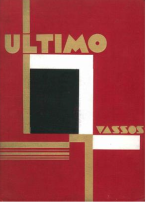 John Vassos - cover of Ultimo by John and Ruth Vassos (1930, E.P. Dutton)