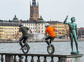 Unicycles in Stockholm 2015.jpg